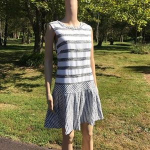 J Crew Black and White stripe dress Size 2